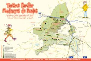 Mapa de Muntanyes de Prades